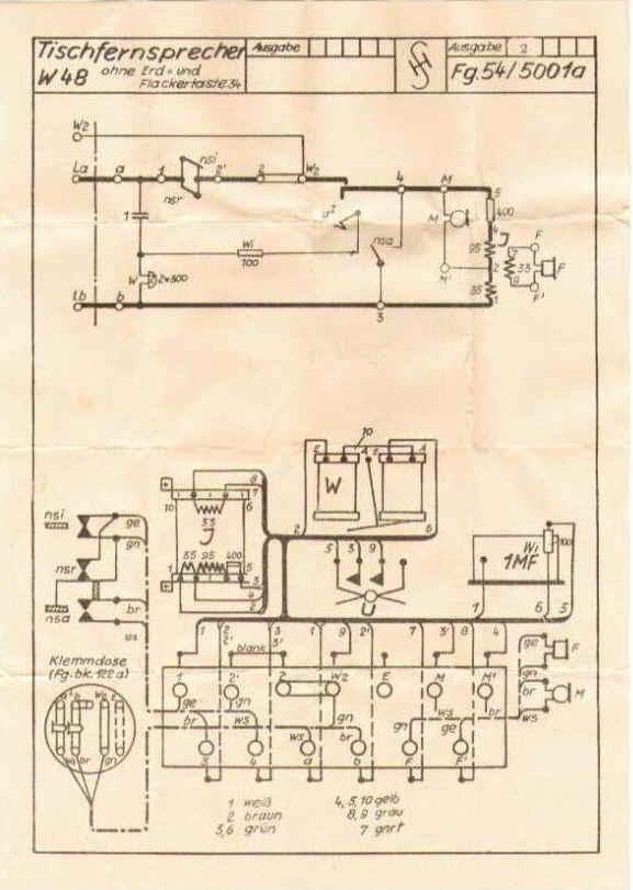 Fernsprechklassik - Schaltpläne für den W48